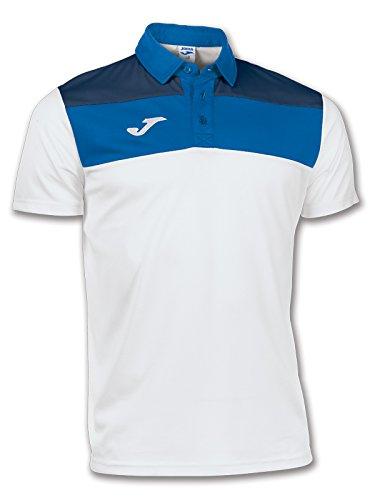 Joma - Polo CREW Blanc / Bleu Royal Taille - M