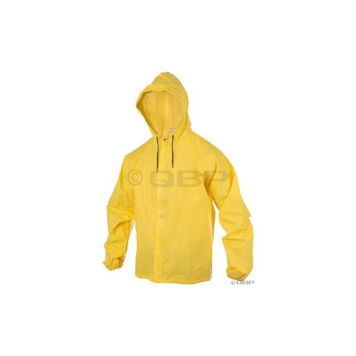 O2 Hooded Rain Jacket with Drop Tail LG Yellow