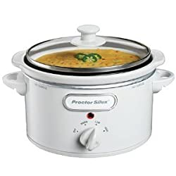 Proctor Silex 33116 1.5 Quart Oval Slow Cooker