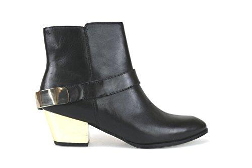 scarpe donna GUESS stivaletti tronchetti nero pelle AK817 (41 EU)