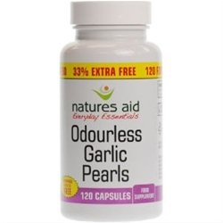 Natures Aid Odurless Garlic Pearls 33% Extra Free 120's For The Price Of 90's from Natures Aid