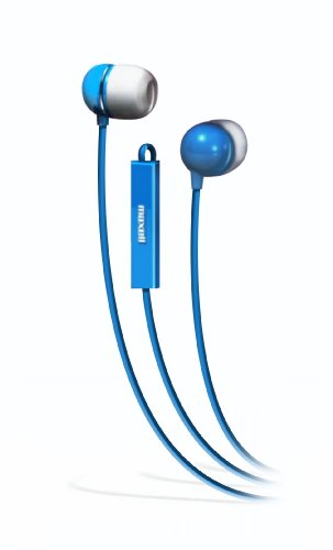 Maxell 190301 - Iemicblu Stereo In-Ear Earbuds With Microphone (Blue)