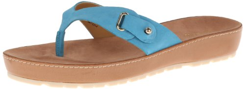 Nine West Women's Travani Platform Sandal,Blue Nubuck,7 M US