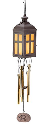 Keep The Light On Sympathy Bereavement Wind Chime