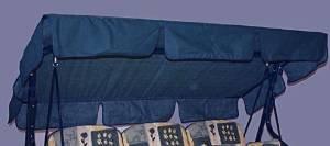 Dach für Hollywoodschaukel, 4-Sitzer blau - 9703T