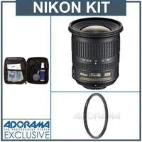 Nikon 10-24mm f/3.5/4.5G ED-IF AF-S DX Lens kit, for Digital SLR Cameras, - Nikon U.S.A Warranty- with Tiffen 77mm UV Wide Angle Filter, , Professional Lens Cleaning Kit