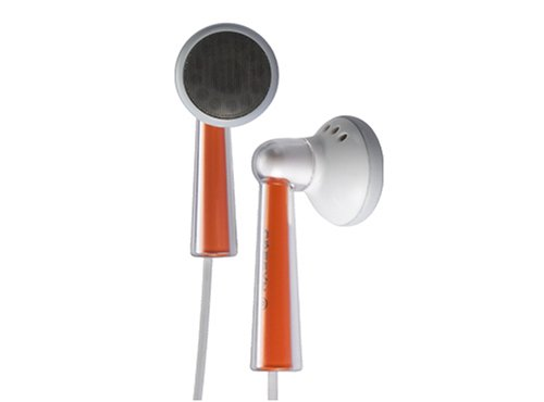 Cresyn C240E Iphone Compatible Stereo Earbud Headphones (Orange Accents)