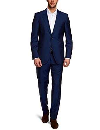 Strellson Premium Herren Anzüge (Zweiteiler) Slim Fit 11000680 / Rick-James, Gr. 46, Blau (423)