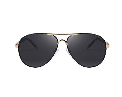 MERRY'S Mens Classic Brand Sunglasses HD Polarized Aluminum Driving Sun glasses Luxury Shades UV400 S8513 (Gold&Black) steampunk buy now online