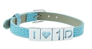 Blue One Direction I Love 1d Bracelet, 1D Bracelet, 1D Wristband, 1D Wrist Band, One Direction Bracelet by Hinky Imports