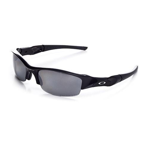 Oakley Flak Jacket Oo9008 Jet Black Frame/Black Iridium Polarized Lens Plastic Sunglasses