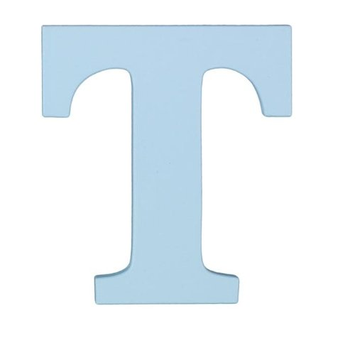 "Wooden Letter ""T"" Hanging Initials Color: Sky Blue"