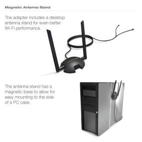 Amped PCI20E - A convenient magnetic Antenna Stand.