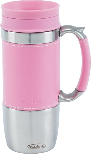 Trudeau Board Room Travel Mug Pink