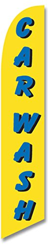 LookOurWay Car Wash Yellow Feather Flag, 12-Feet (Feather Flag Car Wash compare prices)