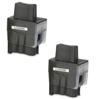 2 XL SCHWARZ Druckerpatronen kompatibel für Brother LC900 / LC950, für Brother DCP-110C, DCP-115C, DCP-117C, DCP-120C, DCP-310C, DCP-310CN, DCP-315C, DCP-315CN, DCP-340CN, DCP-340CW, Fax-1835, Fax-1835C, Fax-1840C, Fax-1940, Fax-1940C, Fax-2240, Fax-2240C, Fax-310, MFC-210C, MFC-215C, MFC-3100, MFC-3240C, MFC-3240CN, MFC-3340CN, MFC-3342CN, MFC-410CN, MFC-420CN, MFC-425CN, MFC-430CN, MFC-5440CN, MFC-5540CN, MFC-5840CN, MFC-610CN, MFC-620CN, MFC-640CN, MFC-640CW, MFC-820CW