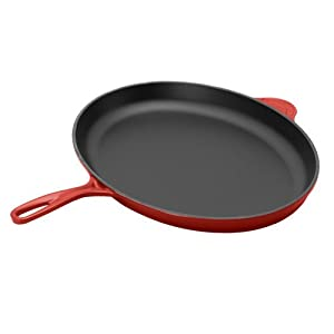 le creuset enameled cast iron 15 3 4 inch oval fish