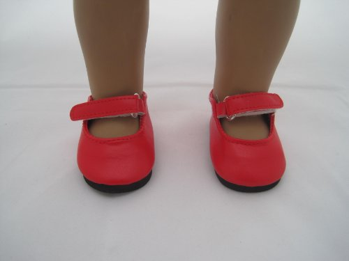 Red Mary Jane Shoes for American Girl Doll and 18 Inch Dolls - 1