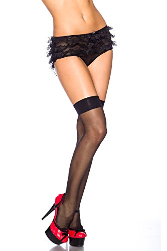 Amynetti Sexy Damen Dessous Overknees Stockings halterlose Strümpfe Stretch Stockings