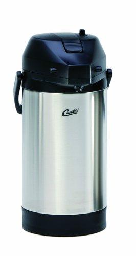 Wilbur Curtis Thermal Dispenser Air Pot, 2.5L S.S. Body S.S. Liner Lever Pump - Commercial Airpot Pourpot Beverage Dispenser - Tlxa2501S000 (Each)