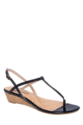 Splendid Edgewood T-Strap Mid Wedge Thong Sandal