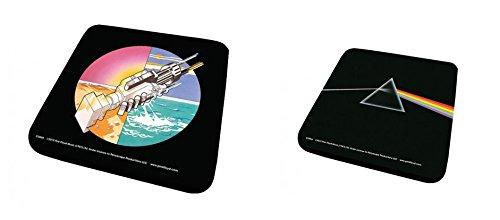 Set di 2 Sottobicchieri: Pink Floyd - Wish You Were Here Circle + Prism (9x9 cm)