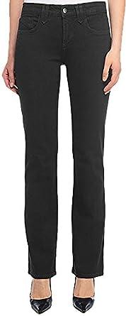 NYDJ Women's Hayden Straight Leg Twill Jean,6 Petite,Black