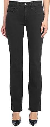NYDJ Women's Hayden Straight Leg Twill Jean,4,Black