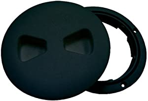 "T-H MARINE DESIGNER DECK PLATE 6"" BLACK"