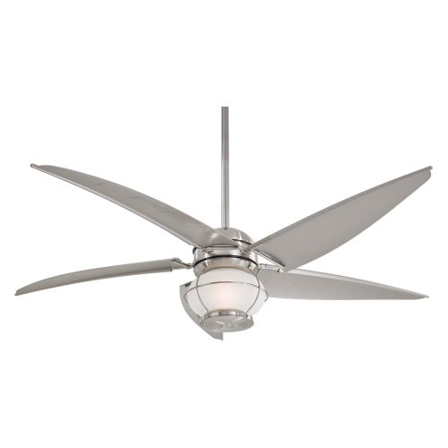 Minka Aire F579-L-BNW Magellan 60 in. Outdoor Ceiling Fan - Brushed Nickel
