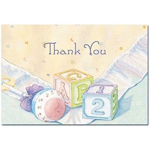 Baby Blocks Baby Shower Thank You Cards and Envelopes