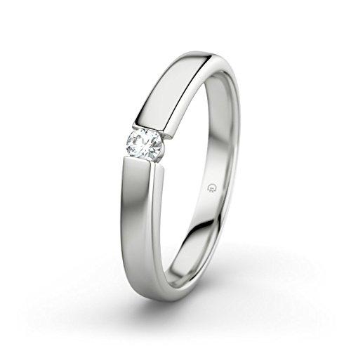 21DIAMONDS Beate Women's 21PREMIUM Engagement Ring Brilliant Cut White Topaz 14carat (585) White Gold Engagement Ring