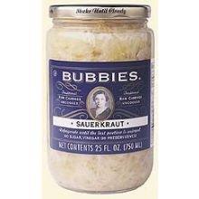 Bubbies Of San Francisco Sauerkraut, 25 Ounce -- 12 Per Case.