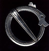Viking Circle Dragon Brooch - Solid Pewter