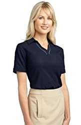 Port Authority - Ladies Silk Touch Piped Polo