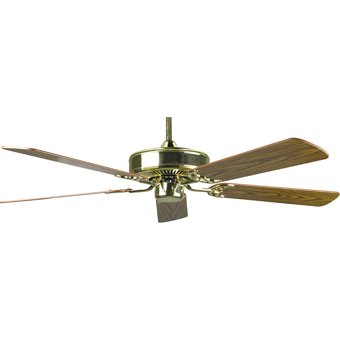 Ceiling Fan - 52 in. 5-Blade Polished Brass