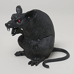 Amazon.com: RAT GIANT PLASTIC 7IN TALL BLACK UPRIGHT SITTING POSITION