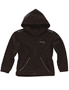 Regatta Charlie Kids Leisurewear Full Zip Fleece - Black/Seal Grey, Size 3-4