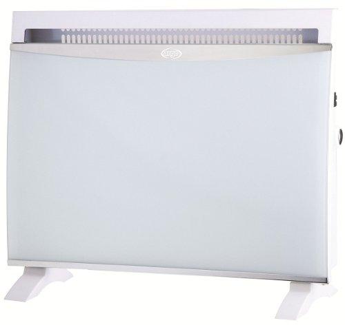 Radiador de aire caliente con cristal blanco