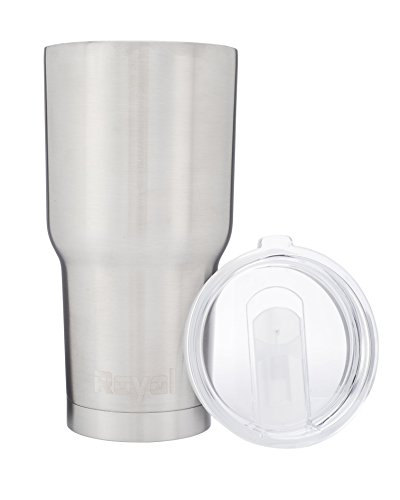 30 oz Stainless Steel Tumbler - BPA Free Lid Open/Close with Straw Opening - Double-Wall Insulated Travel Cup & Coffee Mug (Metal Coffee Cups With Lids compare prices)