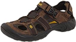 Teva Men's Omnium Leather Sandal,Browned,14 M