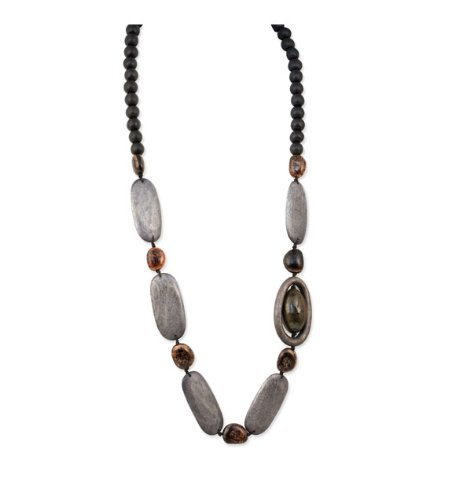 Womens Anipay Seed Natural Stone Wood Fashion Necklace