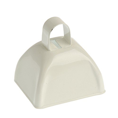 One School Spirit Metal White Cowbell