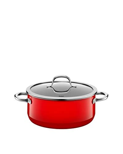 Silit Passion 4.6-Qt. Covered Low Casserole, Red