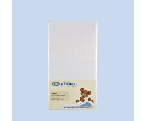 DK Crib Cotton Fitted Sheet - White