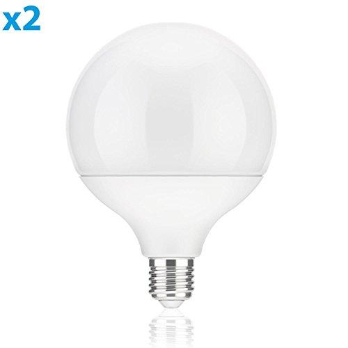 parlat E27 LED Lampadina G120 18W =104W 1400lm 230° bianca calda, 2 Stk.