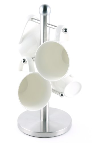 Francois Et Mimi Stainless Steel Coffee Mug Tree Holder, Holds 4-6 Mugs, Depending On Size
