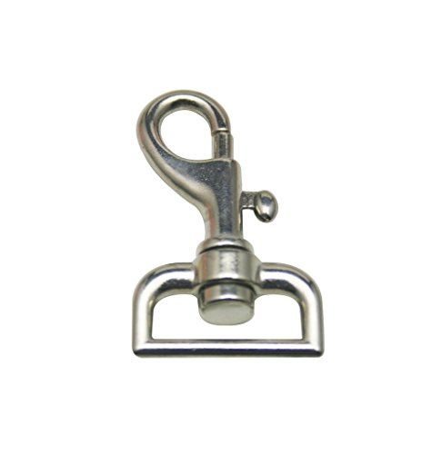 """Generic Silvery 1"""" Inside Diameter D Ring Lobster Clasp for Strap or Dog Collar Buckle Pack of 6"""