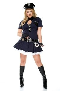 Police Playmate Costume - Plus Size 2X/3X - Dress Size 20-22