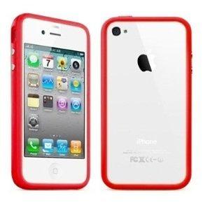 MobiFox Marque iPhone 4/4S Bumper en plastique dur avec boutons en métal (rouge)